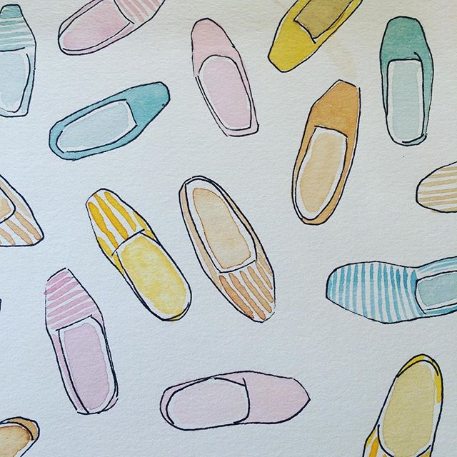 For a second today, it was almost espadrille weather #dscolor #12monthsofpaint #springfever