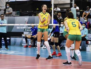 Brasil vence Tailândia pelo Campeonato Mundial de Vôlei Sub-18 Feminino 2021