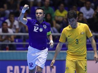 Brasil bate Austrália e encaminha classificação no Mundial de futsal