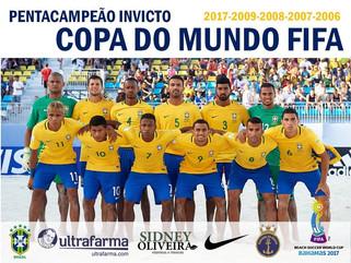Brasil vence Taiti e conquista título do Mundial de Futebol de Areia