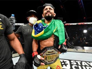Deiveson Figueiredo dá show, apaga Benavidez e conquista o cinturão do UFC