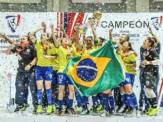 Brasil conquista o título de hexacampeão da Copa América Feminina de Futsal 2019