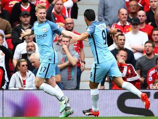 Manchester City vence Manchester United fora de casa, e Guardiola mantém domínio sobre Mourinho