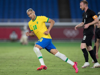 Richarlison brilha e Brasil vence Alemanha na estreia da Olimpíada