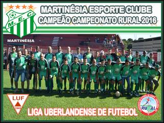 Martinésia é Campeão do Campeonato Rural de Uberlândia 2016