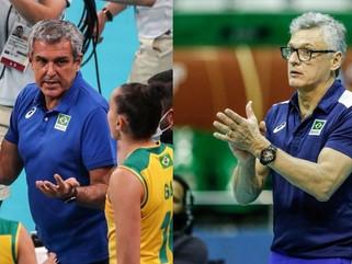 Zé Roberto e Renan Dal Zotto permanecem no comando das seleções brasileiras