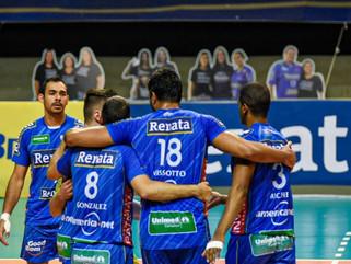 Vôlei Renata vence Azulim/Gabarito/Uberlândia em jogo atrasado