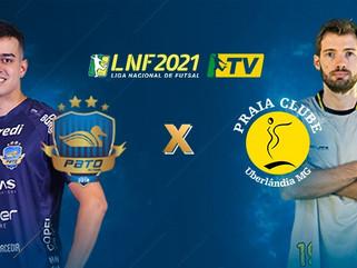 Pato recebe o Praia Clube neste sábado pela Liga Nacional de Futsal 2021