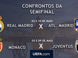 Definidos os confrontos da semifinal da UEFA Champions League