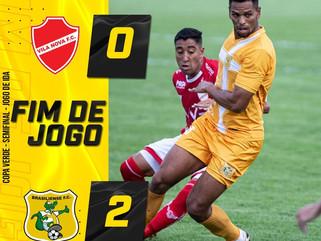 Brasiliense vence Vila Nova fora de casa na semifinal da Copa Verde