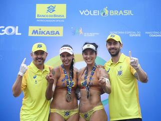 Ágatha e Duda vencem outra etapa e fecham ano na liderança do ranking