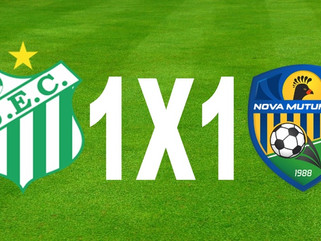 Uberlândia 1 x 1 Nova Mutum - Pênalti no último lance garante empate do Verdão