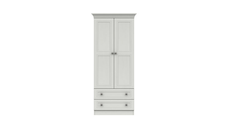 CANTERBURY 2 DRAWER COMBI WARDROBE