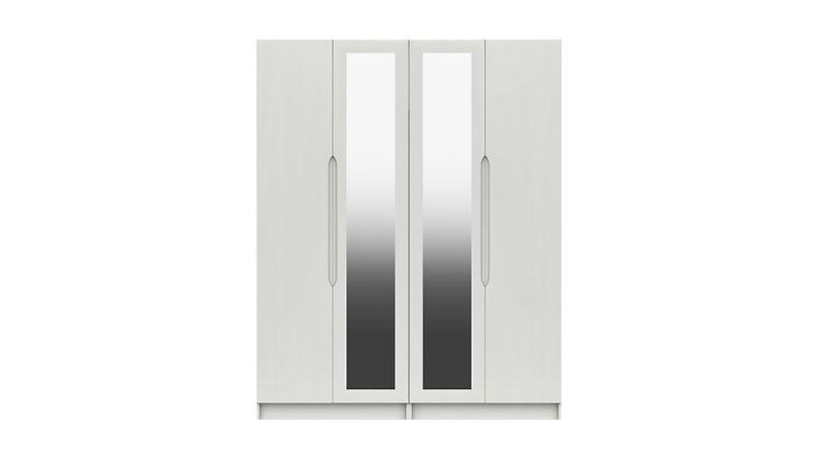 SONATA RANGE TALL  4 DOOR WARDROBE WITH TWO MIRRORS