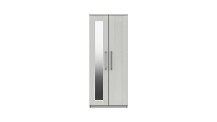 ANDANTE RANGE 2 DOOR WARDROBE WITH MIRROR