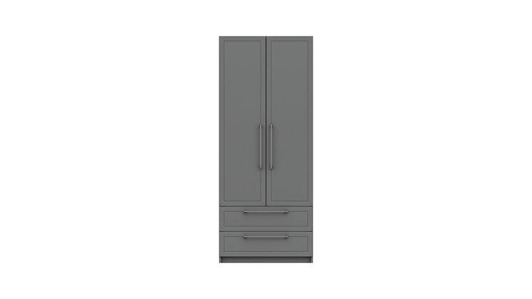 ISLA RANGE 2 DOOR COMBI WARDROBE
