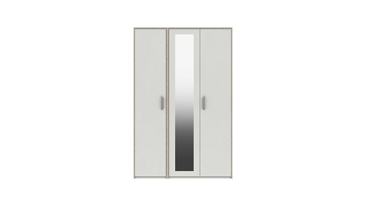MARLOW RANGE  3 DOOR COMBI WARDROBE WITH MIRROR