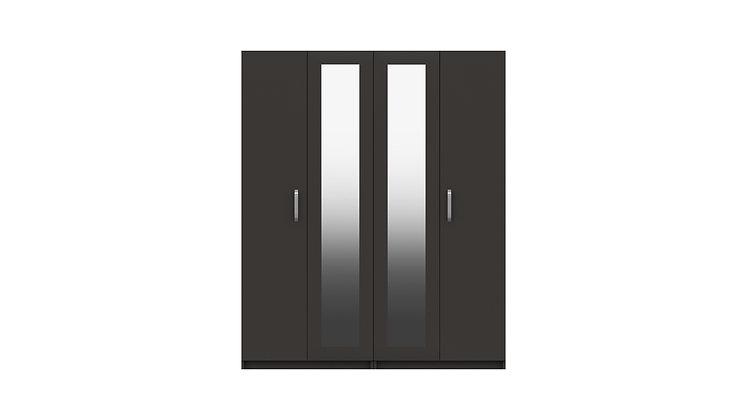 ARRAN RANGE 4 DOOR WARDROBE WITH TWO MIRROR