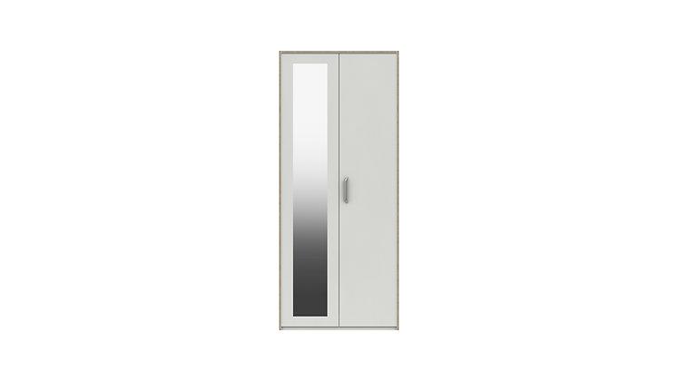 MARLOW RANGE  2 DOOR WARDROBE WITH MIRROR