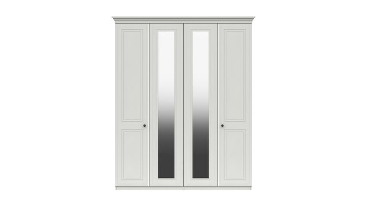 HADLEIGH RANGE TALL 4 DOOR WARDROBE WITH TWO MIRRORS