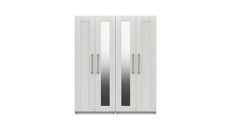 CALDER RANGE 4 DOOR WARDROBE WITH TWO MIRROR