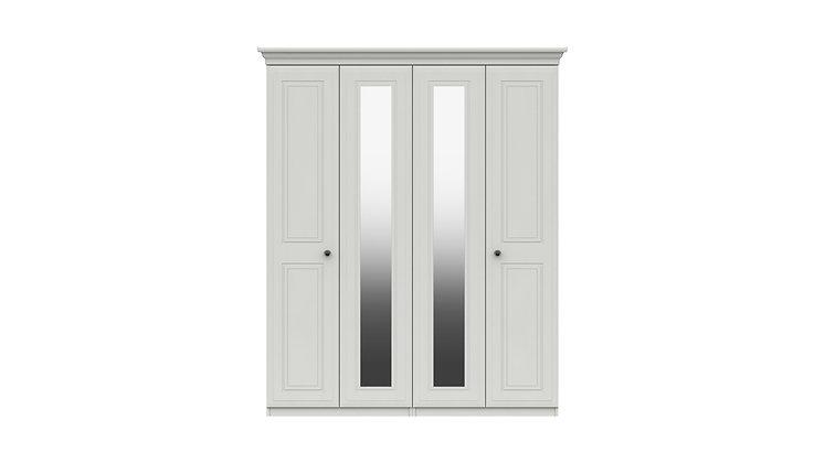 HADLEIGH RANGE 4 DOOR WARDROBE WITH TWO MIRRORS