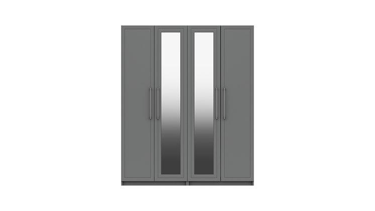ISLA RANGE 4 DOOR WARDROBE WITH TWO MIRROR
