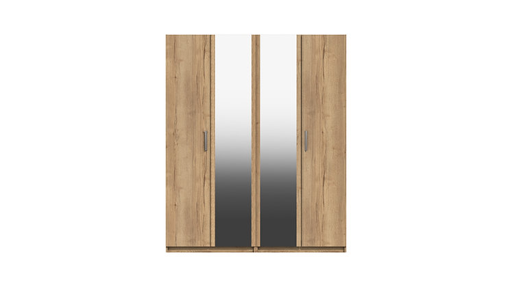 WATERFALL RANGE 4 DOOR  WARDROBE WITH TWO MIRRORS