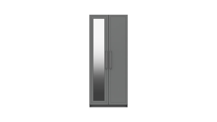 ISLA RANGE 2 DOOR WARDROBE WITH MIRROR