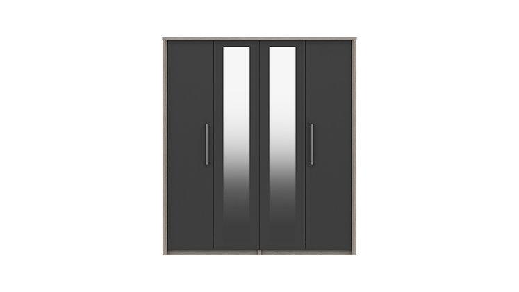 ARUNDEL RANGE 4 DOOR WARDROBE WITH TWO MIRRORS