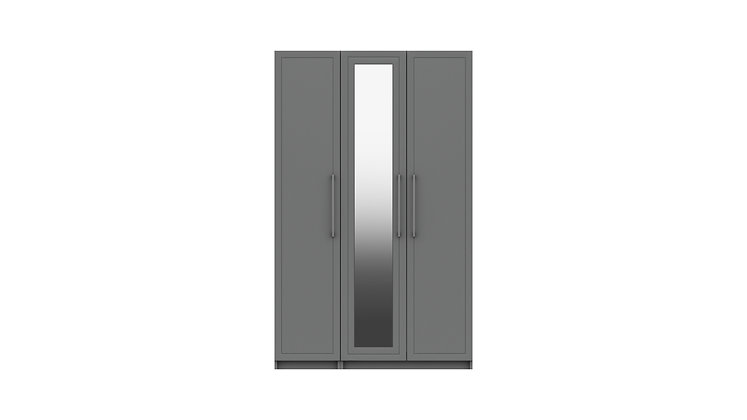 ISLA RANGE 3 DOOR WARDROBE WITH MIRROR