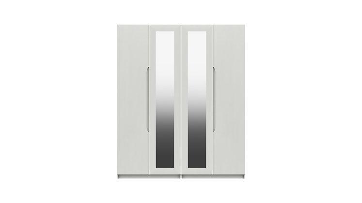 SONATA RANGE  4 DOOR WARDROBE WITH TWO MIRRORS