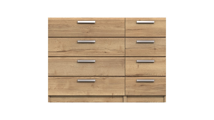 WATERFALL RANGE  4 DRAWER DOUBLE CHEST