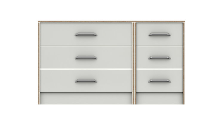 MARLOW RANGE  3 DRAWER DOUBLE CHEST