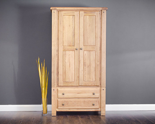 DONNY OAK 2 DOOR WARDROBE