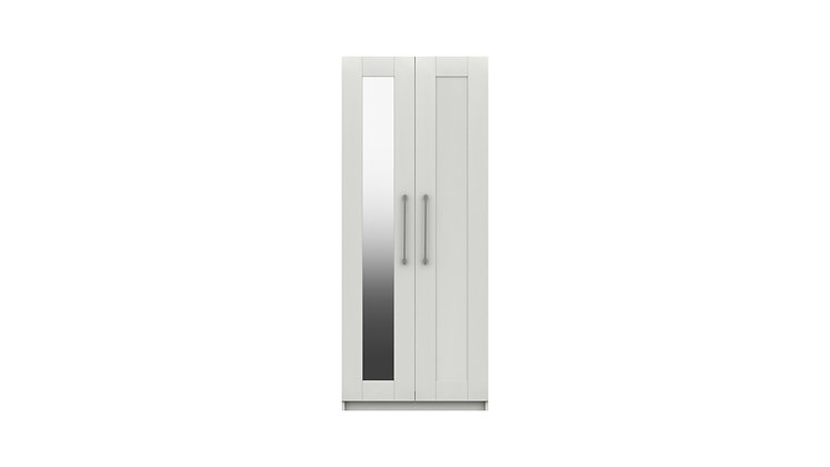 CALDER RANGE 2 DOOR WARDROBE WITH MIRROR