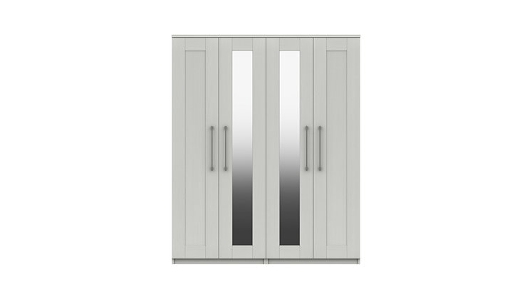 ANDANTE RANGE 4 DOOR WARDROBE WITH TWO MIRRORS