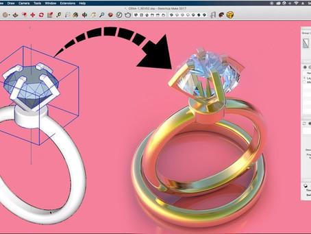 [TUTORIAL] Fazendo anel de diamantes com SketchUp e V-Ray