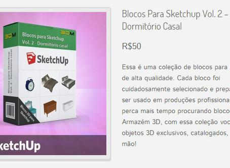 Coleção de Blocos para Sketchup Vol. 2 – dormitório casal