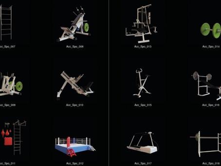 3D Models: Equipamentos de Academia