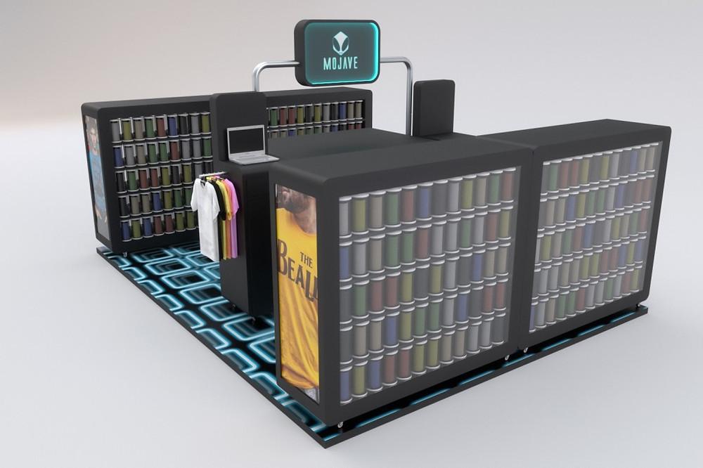 Maquete eletrônica de quiosque