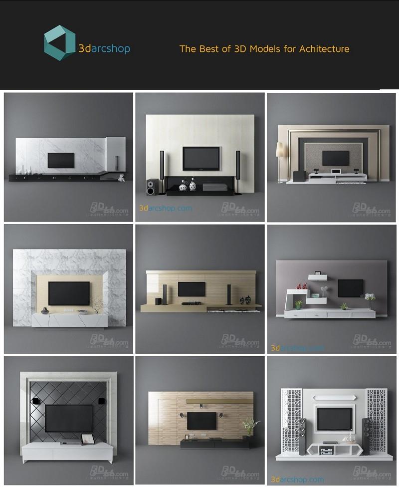 3darcshop TV Media Furniture