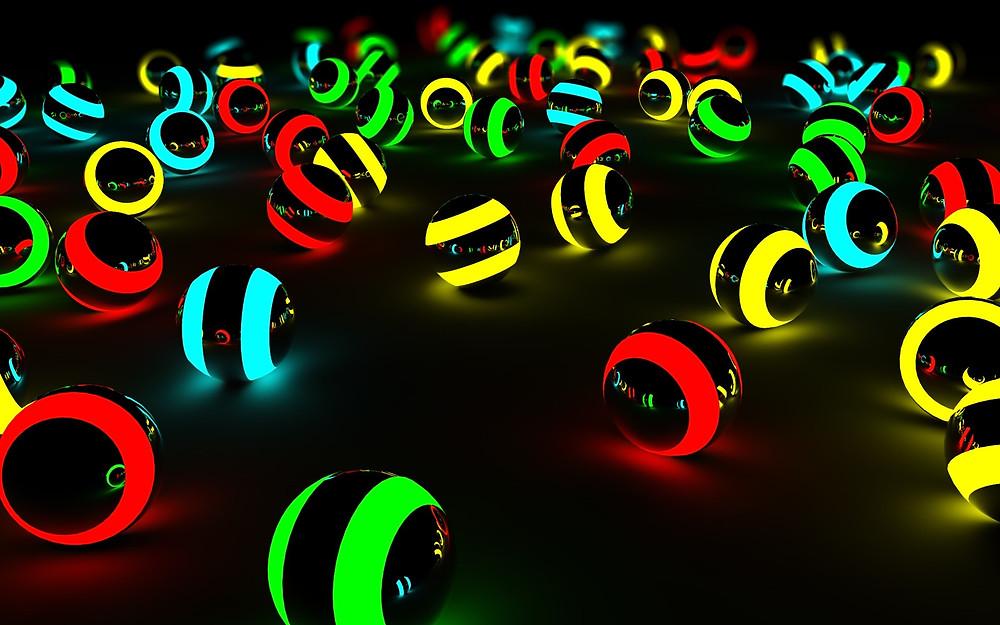 3D-Balls-Glow-HD-Wallpaper