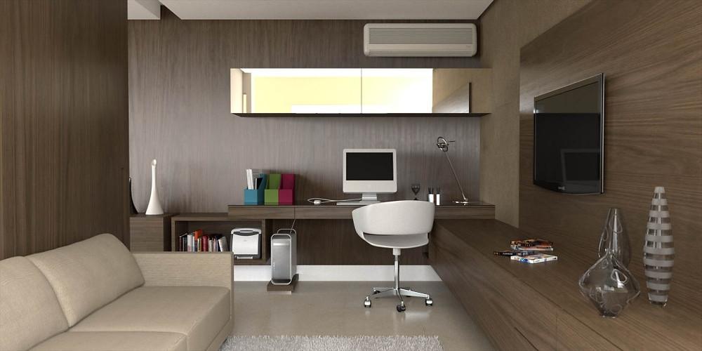 Maquete eletrônica de apartamento - escritório