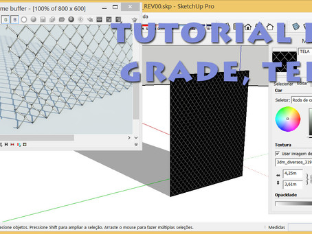 Tutorial de Alambrado no Sketchup + V-Ray