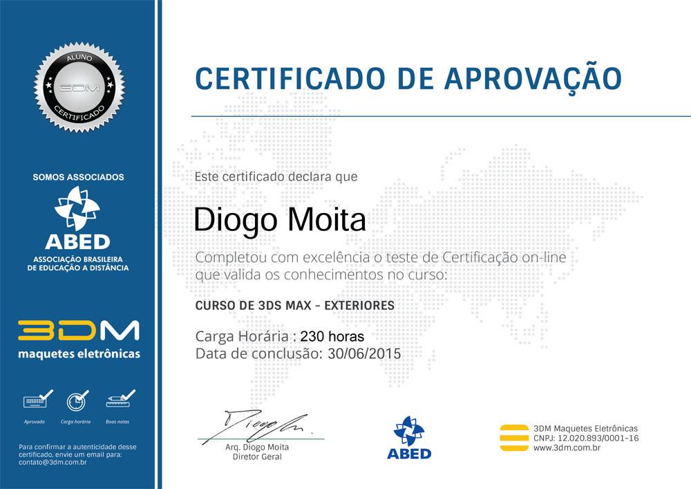 Certificado Curso 3ds Max - Exteriores