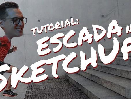 Como Fazer Escada no SketchUp | Com plugin e sem plugin!