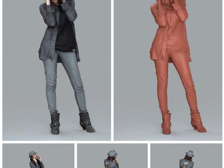 AXYZ Ready-Posed 3D Humans | MeMsS001HD2