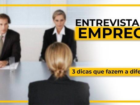 3 Dicas para se dar bem em uma entrevista de emprego!