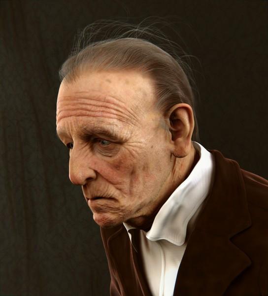 Figura humana desenvolvida em Blender